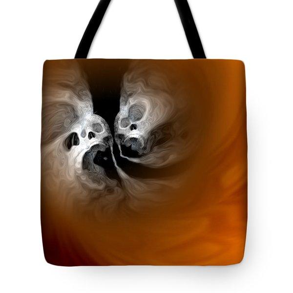 Skull Scope 4 Tote Bag by Adam Vance