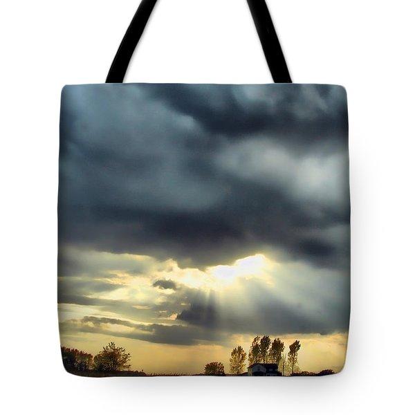 Sky In Turmoil Tote Bag by Tom Schmidt