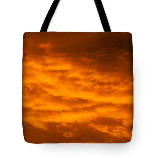Sky Of Fire Tote Bag