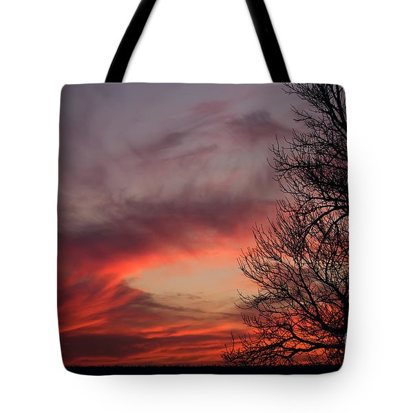 Sky On Fire Tote Bag by Art Whitton