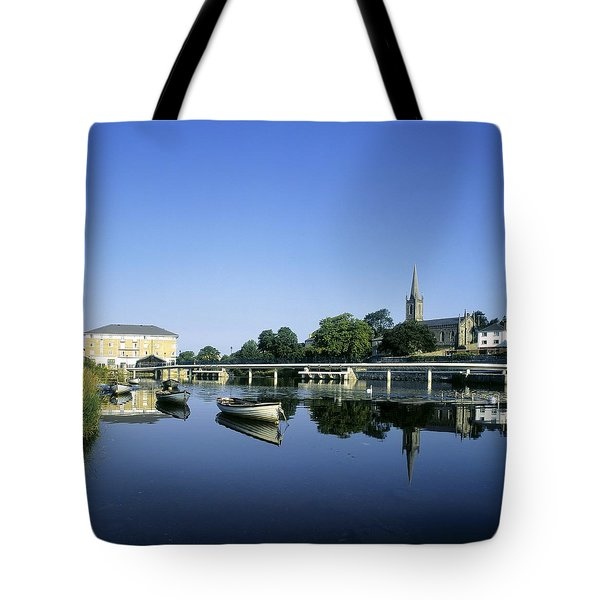 Skyline Over The River Garavogue, Sligo Tote Bag by The Irish Image Collection