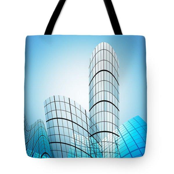 Skyscrapers In The City Tote Bag by Setsiri Silapasuwanchai