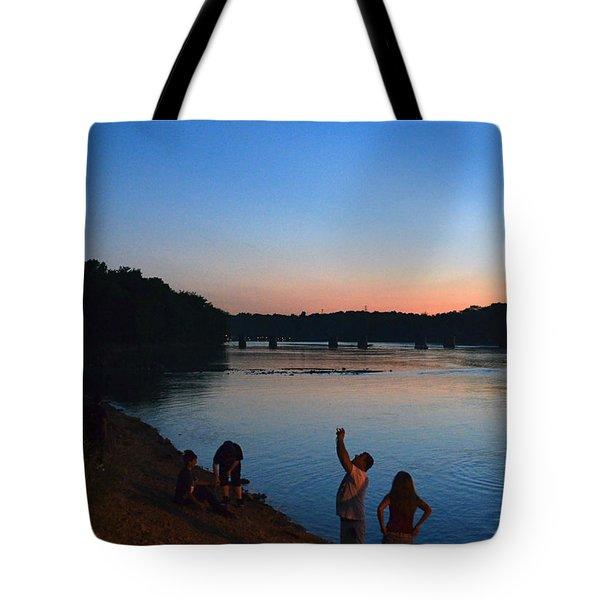 Skywatchers Tote Bag by Sue Stefanowicz