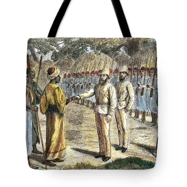Slave Trader Surrenders To Baker, 1869 Tote Bag by Photo Researchers