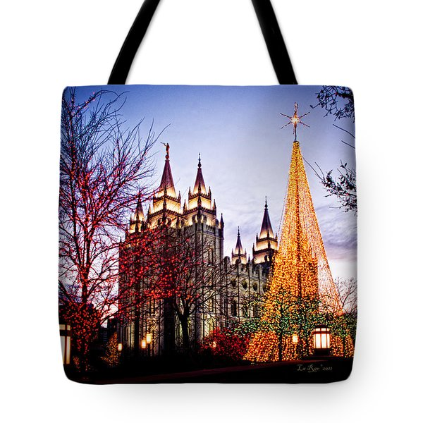Slc Temple Tree Light Tote Bag by La Rae  Roberts