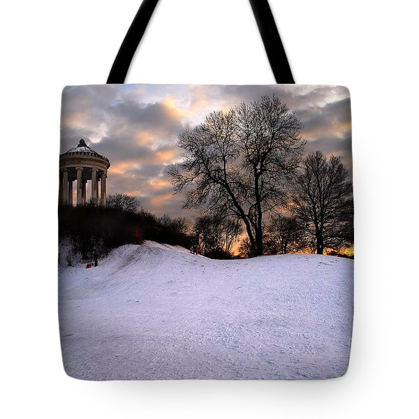 Sledge Ride Tote Bag by Hannes Cmarits