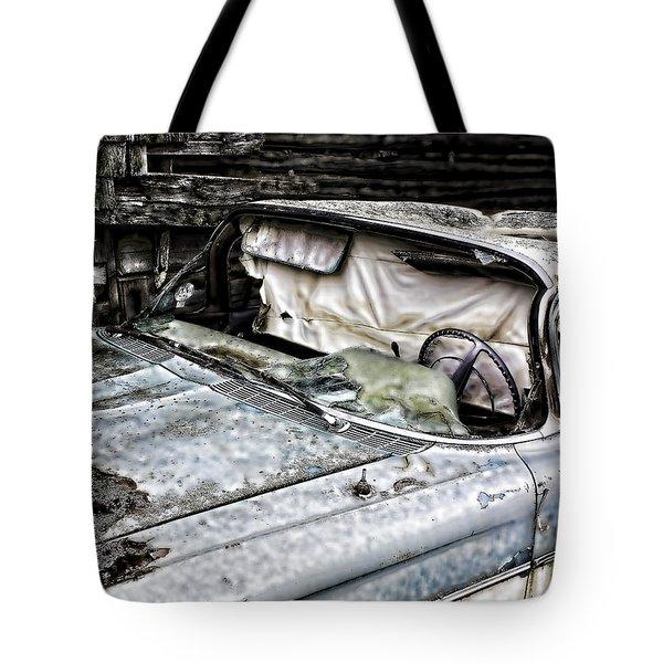 Slimy Sue  Tote Bag by Jerry Cordeiro