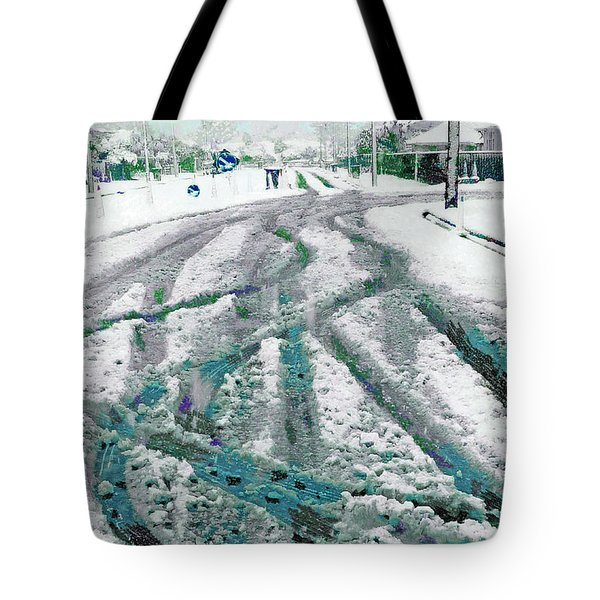 Tote Bag featuring the photograph Slipping And Sliding  by Steve Taylor