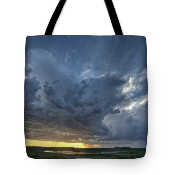 Slough Pond And Crop Tote Bag by Mark Duffy