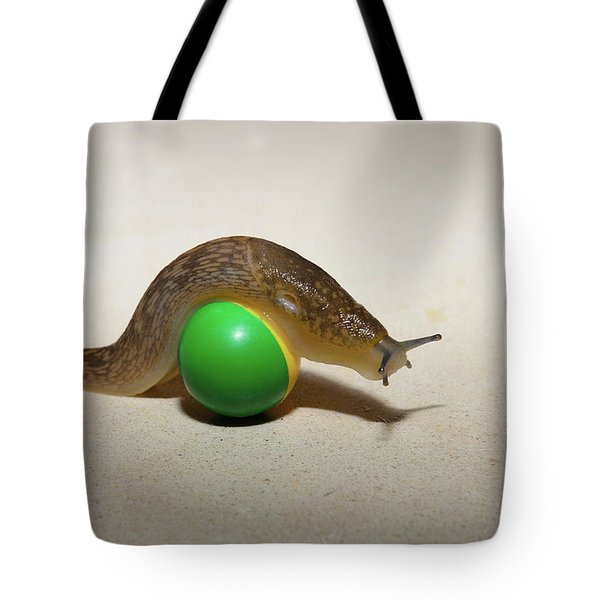 Slug On The Ball Tote Bag