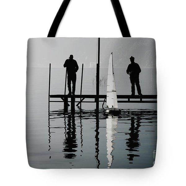 Small Sailing Boat Tote Bag by Mats Silvan