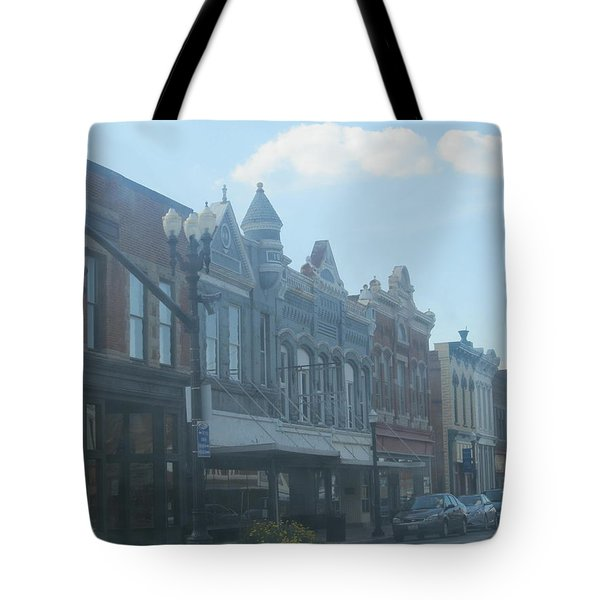 Tote Bag featuring the photograph Small Town Proper by Tina M Wenger