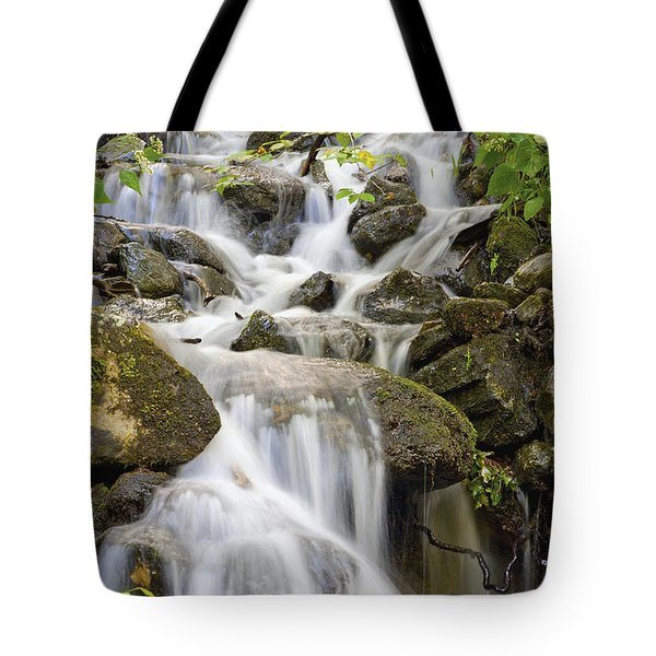 Small Waterfalls And Brook West Bolton Tote Bag by David Chapman