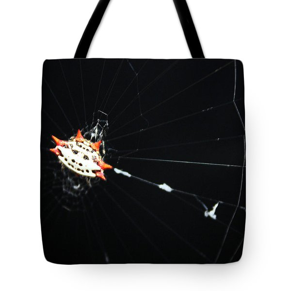 Smiley Crab Spider Tote Bag by Kristin Elmquist
