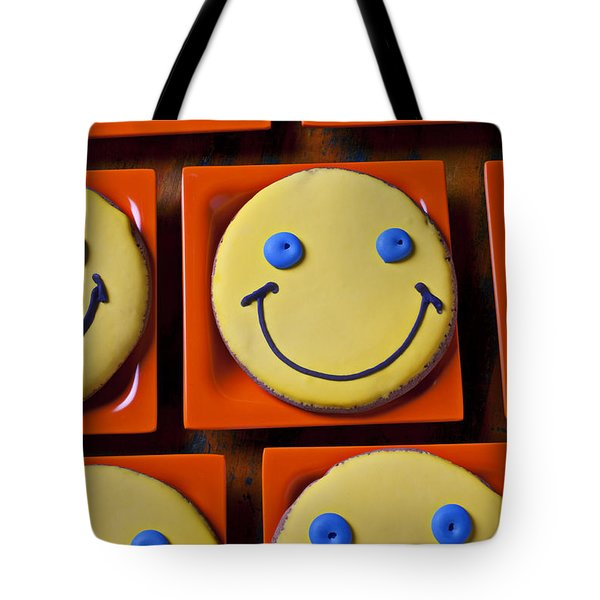 Smiley Face Cookies Tote Bag by Garry Gay