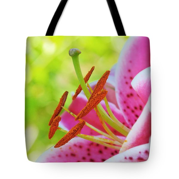 Smiling Face Mona Lisa Lily Tote Bag by Michelle Wiarda