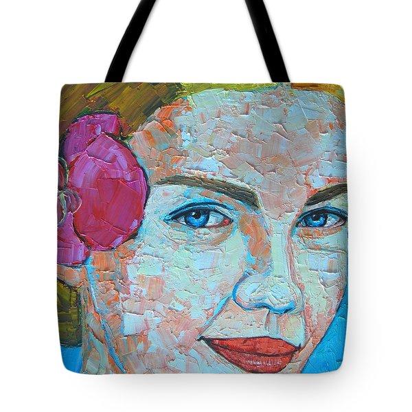 Smiling Girl Tote Bag by Ana Maria Edulescu