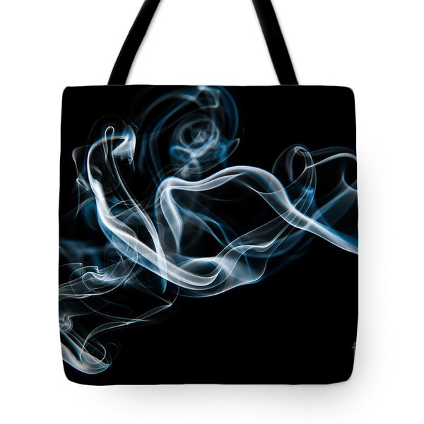 Tote Bag featuring the photograph Smoke-2 by Larry Carr