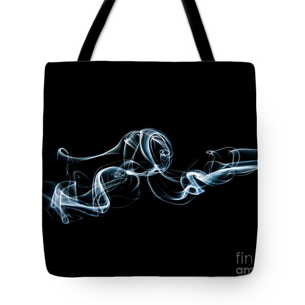 Tote Bag featuring the photograph Smoke-3 by Larry Carr
