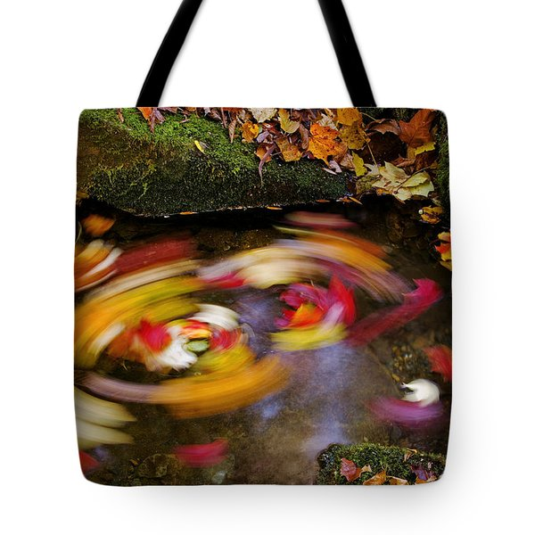 Smoky Mountain Whirlpool Tote Bag by Rich Franco