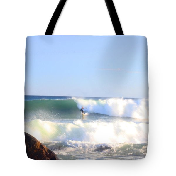Snake Hole Surfer Tote Bag