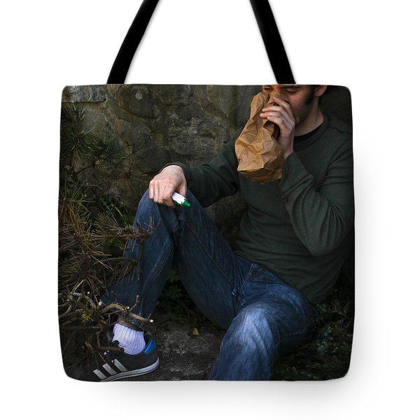 Sniffing Glue Tote Bag by Photo Researchers, Inc.