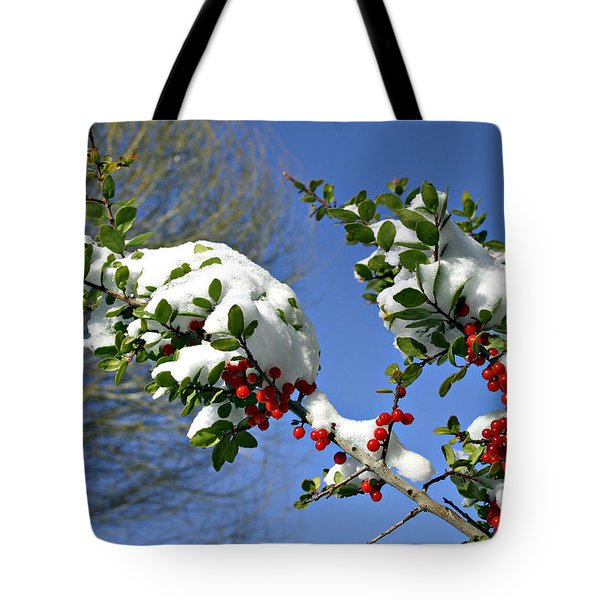Snow Berrys Tote Bag
