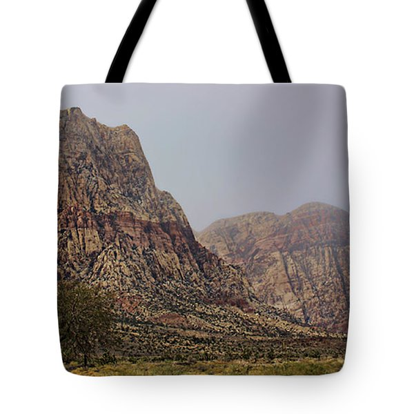 Tote Bag featuring the photograph Snow Day In The Desert by Tammy Espino