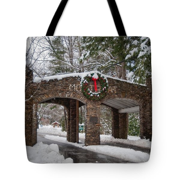 Snow Gate  Tote Bag by Joye Ardyn Durham