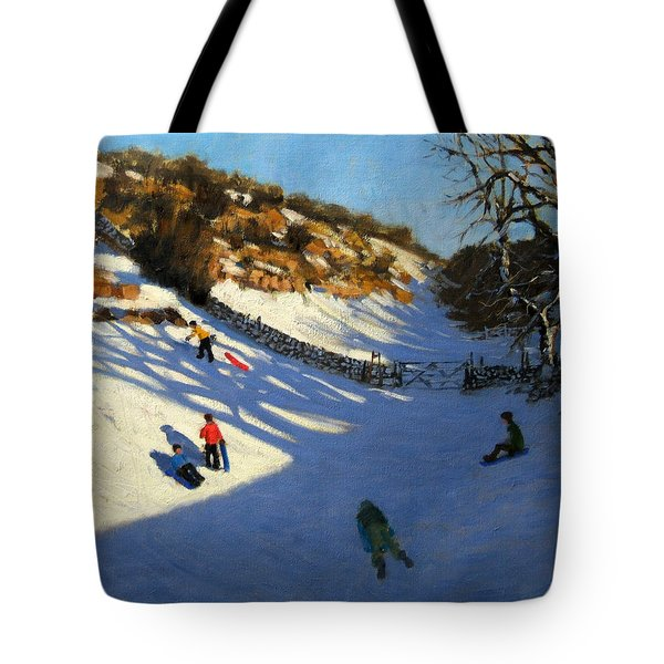 Snow In The Valley Tote Bag by Andrew Macara