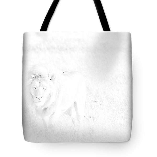 Snow Lion Tote Bag by Darcy Michaelchuk