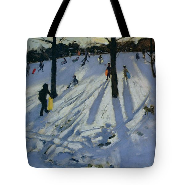 Snow Rykneld Park Derby Tote Bag by Andrew Macara