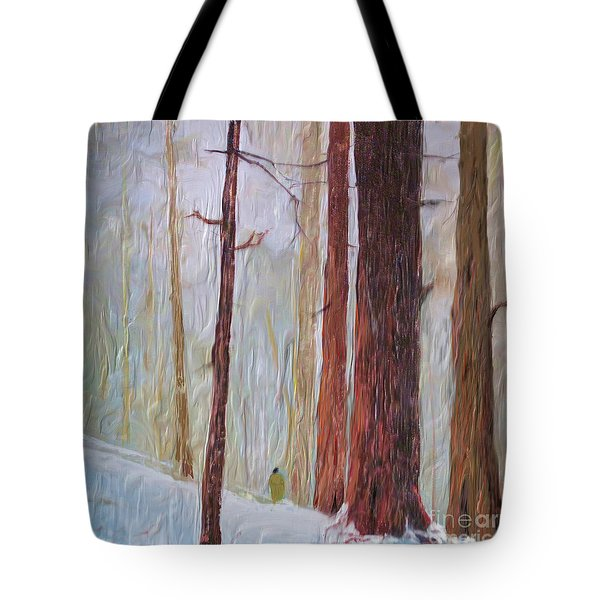 Snow Walker Tote Bag