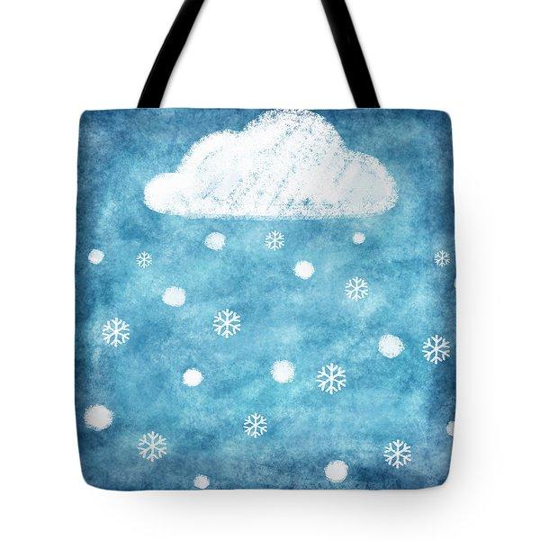 Snow Winter Tote Bag by Setsiri Silapasuwanchai