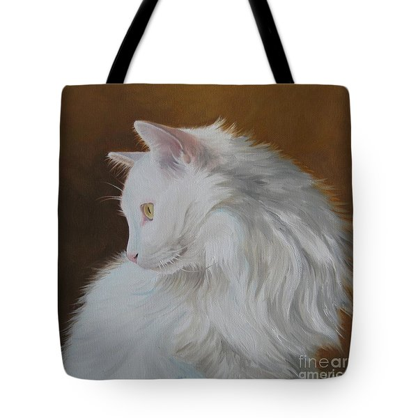 Tote Bag featuring the painting Snowball by Jindra Noewi