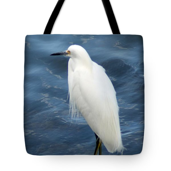 Snowy Egret 1 Tote Bag by Joe Faherty