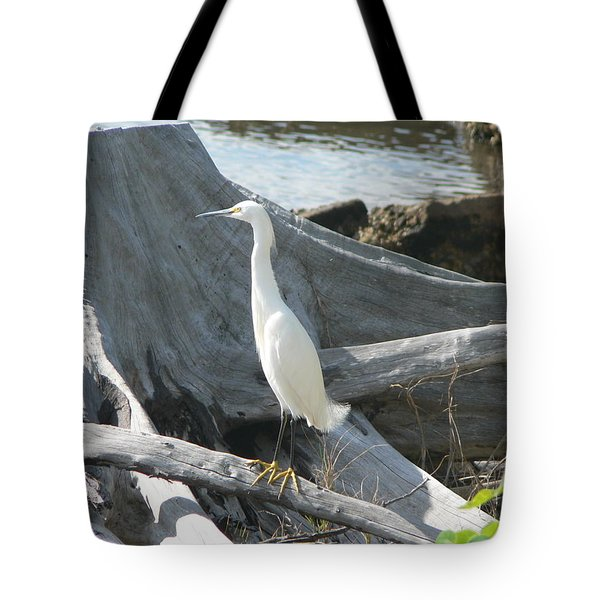 Tote Bag featuring the photograph Snowy Egret by Laurel Best