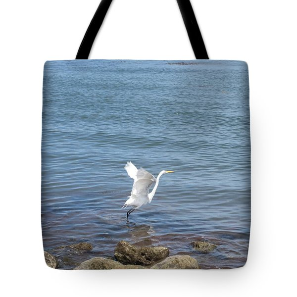 Tote Bag featuring the photograph Snowy Egret by Marilyn Wilson