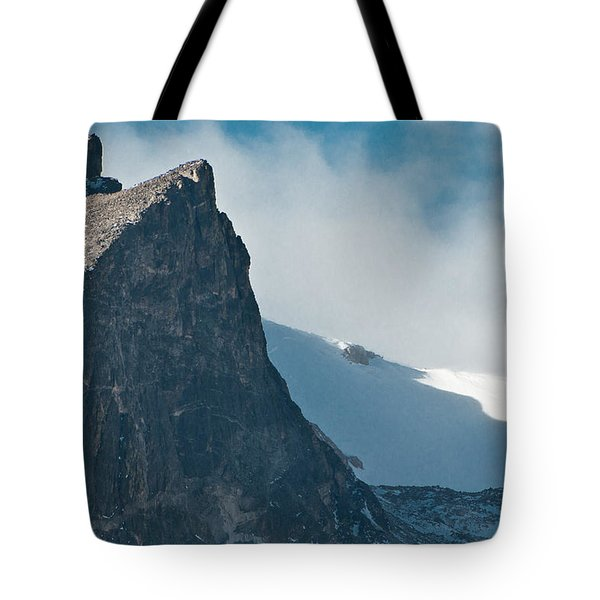 Snowy Flatirons Tote Bag by Colleen Coccia