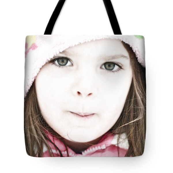 Snowy Innocence Tote Bag by Gwyn Newcombe