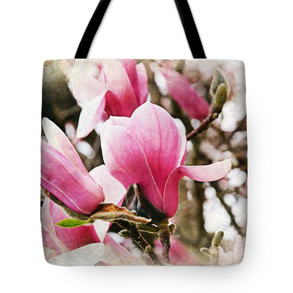 Snowy Magnoila Mist  Tote Bag by Andee Design