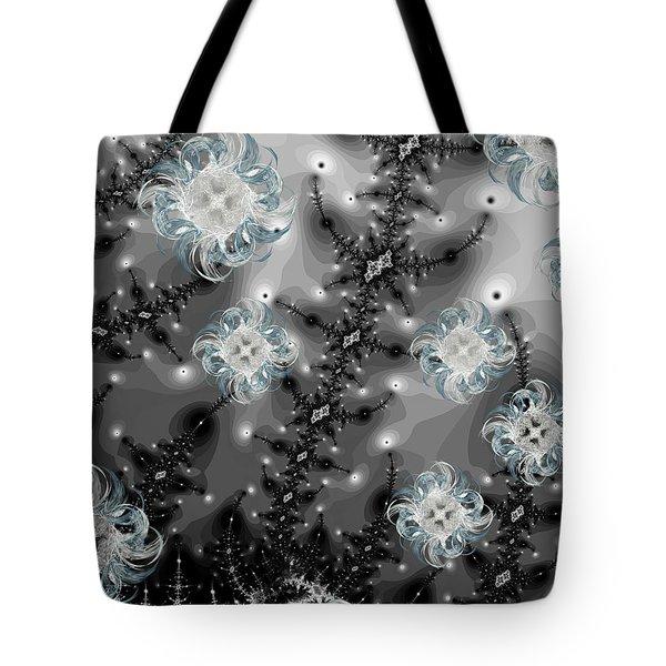 Snowy Night II Fractal Tote Bag by Betsy Knapp