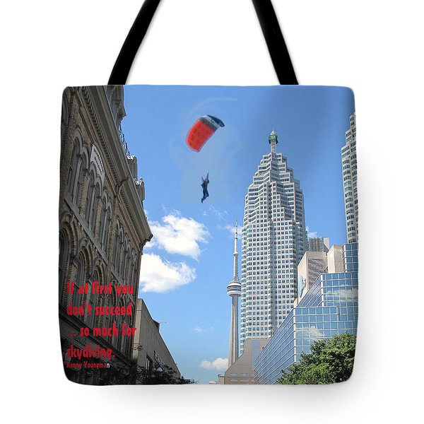 So Much For Skydiving Tote Bag by Ian  MacDonald
