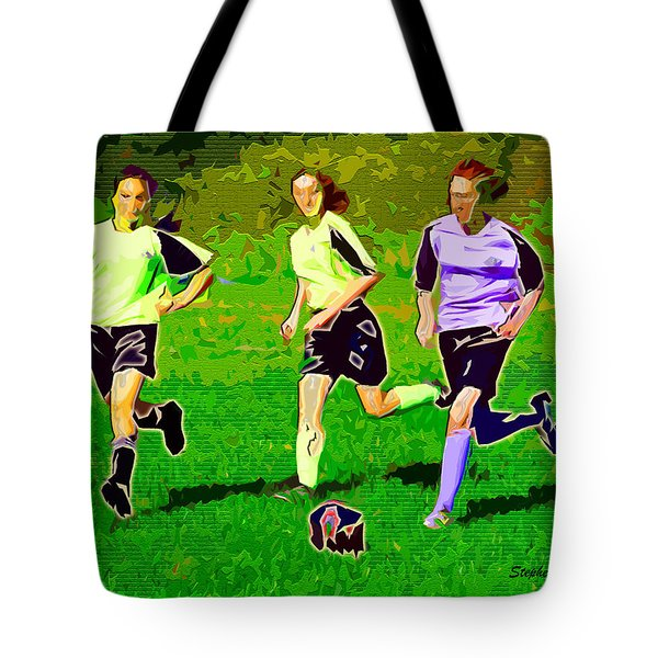 Soccer Tote Bag by Stephen Younts
