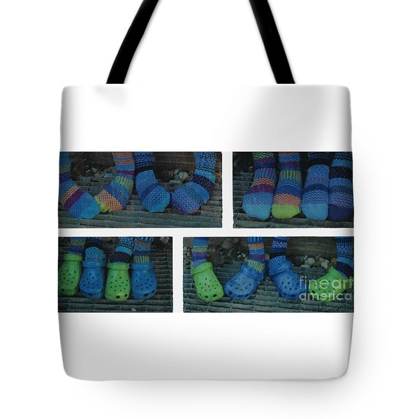 Socks And Crocs Tote Bag