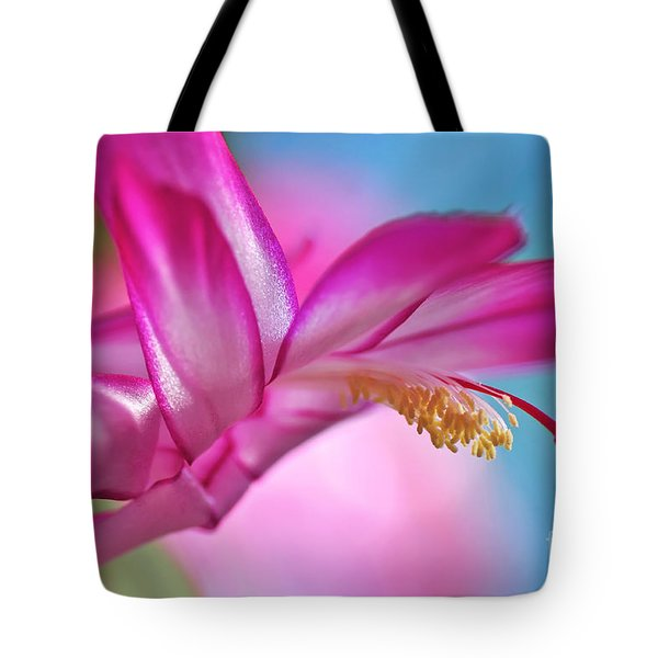 Soft And Delicate Cactus Bloom Tote Bag by Kaye Menner