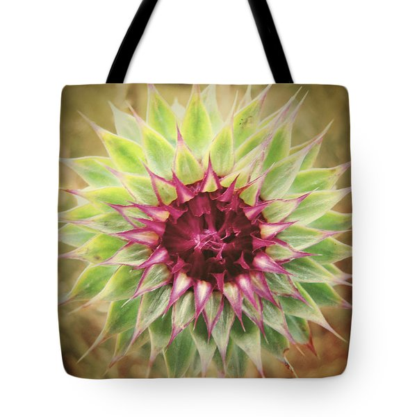 Soft As A Thistle Tote Bag by Amy Tyler