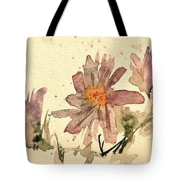 Soft Asters Aged Look Tote Bag by Beverley Harper Tinsley