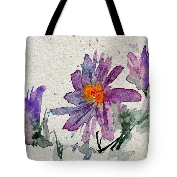 Soft Asters Tote Bag by Beverley Harper Tinsley