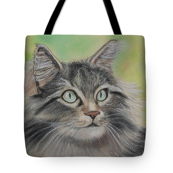 Soft Kitty Tote Bag by Julie Brugh Riffey